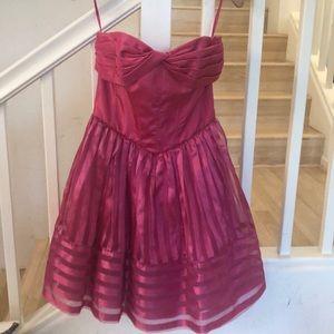 Betsey Johnson Pink Fushia strapless prom dress